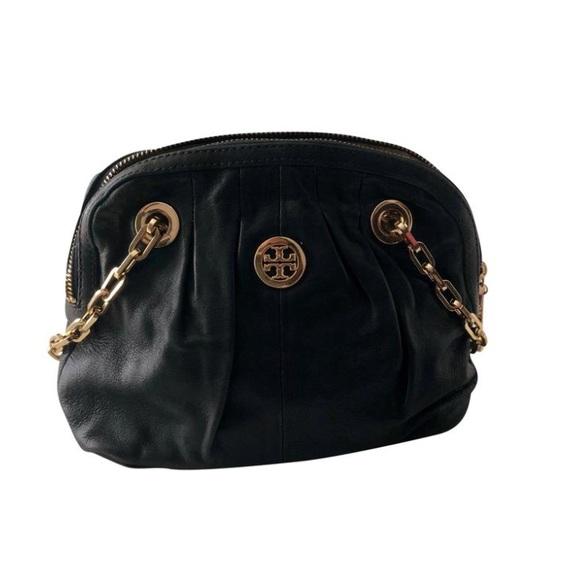 Tory Burch Handbags - Tory Burch Navy Gold Chain Purse